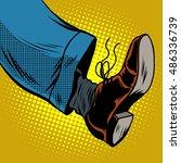 Human Foot With Shoe  Pop Art...