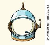 space suit helmet isolated on... | Shutterstock .eps vector #486336766