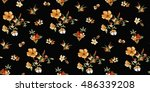 trendy seamless floral pattern... | Shutterstock .eps vector #486339208
