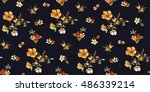 Stock vector trendy seamless floral pattern in vector 486339214