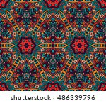 abstract geometric mosaic.... | Shutterstock . vector #486339796
