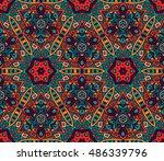 abstract geometric mosaic.... | Shutterstock . vector #486339796