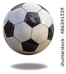 soccer ball closeup  isolated... | Shutterstock . vector #486341539