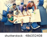 architect cafe casual...   Shutterstock . vector #486352408