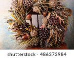 Festive Autumn Wreath With...
