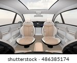 self driving suv interior... | Shutterstock . vector #486385174