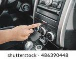 emergency button in car  hazard ... | Shutterstock . vector #486390448