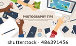 photography equipment with... | Shutterstock .eps vector #486391456