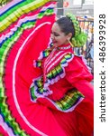 Small photo of GUADALAJARA , MEXICO - AUG 28 : Participant in a parde during the 23rd International Mariachi & Charros festival in Guadalajara Mexico on August 28 , 2016.