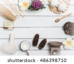 aromatherapy  product  spa set  ...   Shutterstock . vector #486398710