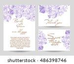 vintage delicate invitation...   Shutterstock . vector #486398746