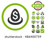 dollar deposit egg icon with... | Shutterstock .eps vector #486400759