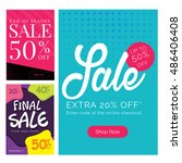 modern sale banner set ... | Shutterstock .eps vector #486406408