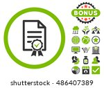 certified icon with bonus... | Shutterstock .eps vector #486407389