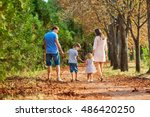 the family in the park. happy... | Shutterstock . vector #486420250