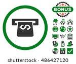 atm icon with bonus design... | Shutterstock .eps vector #486427120