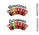 american and european roulette... | Shutterstock .eps vector #486427450