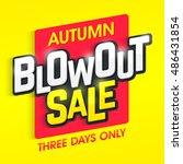 autumn blowout sale banner.... | Shutterstock .eps vector #486431854