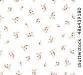 seamless floral pattern with... | Shutterstock .eps vector #486439180