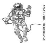 vector illustration cosmonaut    Shutterstock .eps vector #486441439