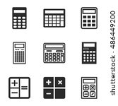 calculator vector icons. simple ...