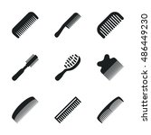 comb vector icons. simple...
