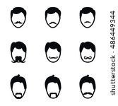 man with mustache vector icons. ...