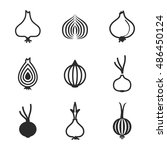 onion vector icons. simple...