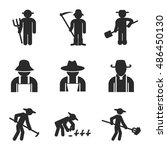 gardener vector icons. simple...
