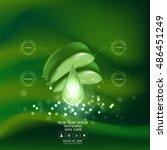 aloe vera collagen serum and... | Shutterstock .eps vector #486451249