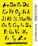 alphabet letters lowercase.... | Shutterstock .eps vector #486451528