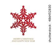 design of christmas tree shaped ... | Shutterstock .eps vector #486452830