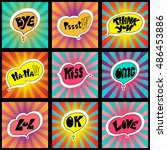 hand drawn catchwords on the...   Shutterstock .eps vector #486453886
