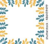 leaf border. vector grass. | Shutterstock .eps vector #486459499