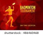 professional badminton player...   Shutterstock .eps vector #486460468