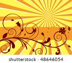 floral background   vector | Shutterstock .eps vector #48646054