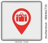 navigator guide itinerary icon | Shutterstock .eps vector #486461710