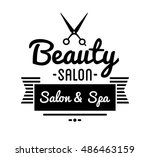 vintage barber shop logo and... | Shutterstock .eps vector #486463159