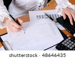 hand of a young business woman... | Shutterstock . vector #48646435