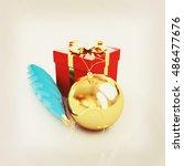 beautiful christmas gifts. 3d... | Shutterstock . vector #486477676