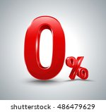 red zero percent  isolated on... | Shutterstock .eps vector #486479629