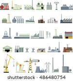 different kinds of factory | Shutterstock .eps vector #486480754