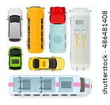 set of transport units. public... | Shutterstock .eps vector #486481408