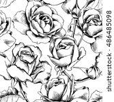 seamless pattern with image of... | Shutterstock .eps vector #486485098