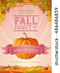 Fall Party Invitation Design....