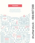 business training   line design ... | Shutterstock . vector #486487288