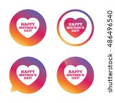 happy mothers's day sign icon.... | Shutterstock .eps vector #486496540