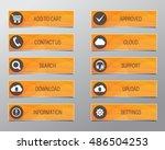orange web buttons  high... | Shutterstock .eps vector #486504253
