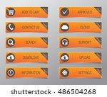 orange web buttons  high... | Shutterstock .eps vector #486504268