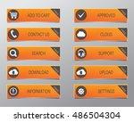 orange web buttons  high... | Shutterstock .eps vector #486504304